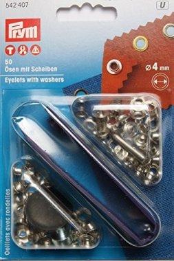 průchodka PRYM 4mm s podložkou stříbrná 50ks