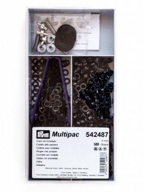 průchodka PRYM 4mm s podložkou černá 500ks