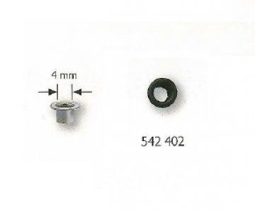 průchodka PRYM 4mm bez podložky černá 50ks