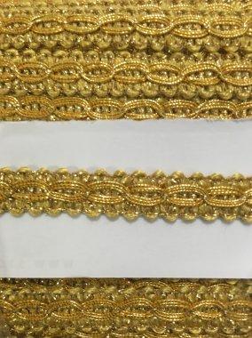prýmek zlatý 11mm viskóza+lurex