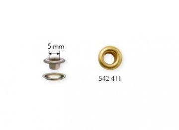 průchodka s podložkou 5mm PRYM 40ks zlaté