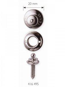 druk na uchycení plachet/celt se šroubem a utahovacím klíčem2ks