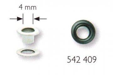 průchodka s podložkou 4mm černá 50ks
