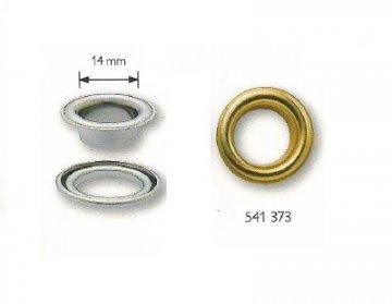 plachtové kroužky bezniklové-stříbrné 14x7mmx10ks