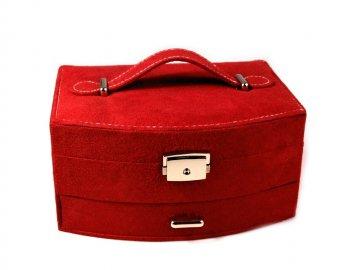 šperkovnice 2patrová 20x15x10cm červená