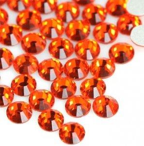5mm nalep.kamínky broušené hyacinth=oranžová