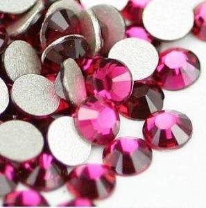 5mm nalep.kamínky broušené fuchsia = tm.růžová