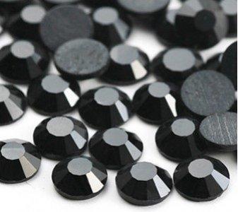 4mm nalepovací kameny broušené jet=černá barva