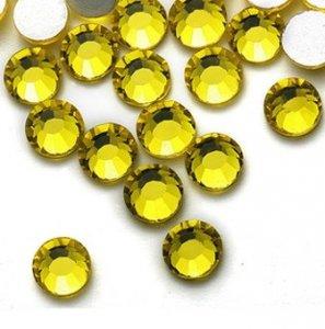 4mm nalepovací kameny broušené citrine = žlutá