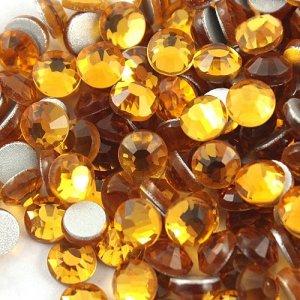 4mm nalepovací kameny broušené topaz = medová