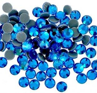 5mm nalep.kamínky broušené capri blue = modrá