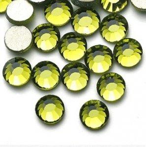 5mm nalep.kamínky broušené olivine = khaky