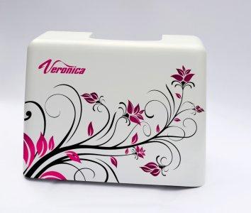 ochranný kufr pro šicí stroje Veronica 100, 200 - kytky