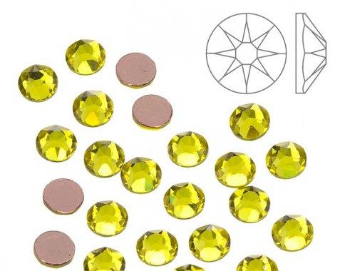5mm nalep.kamínky broušené citrine = žlutá