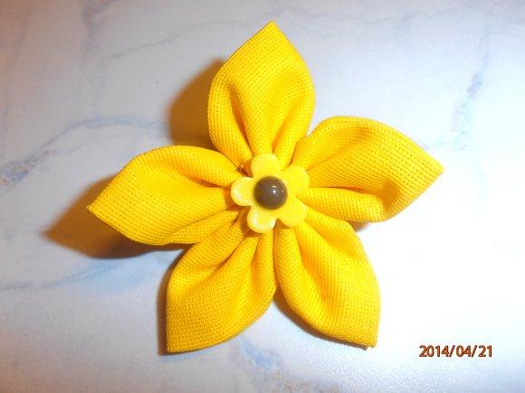 kanzashi květina 8cm - ruční práce