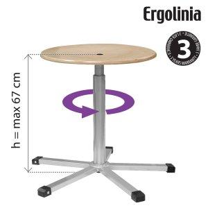 pracovní stolička dřevěná Ergolinia 10003