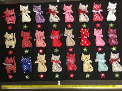 jehelníček látkový kočka 100%bavlna