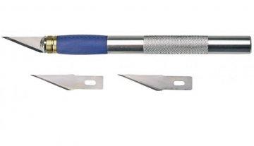 nůž modelářský skalpelový + 2x náhradní ostří Topex