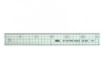 pravítko plastové s kovovým páskem 30cm
