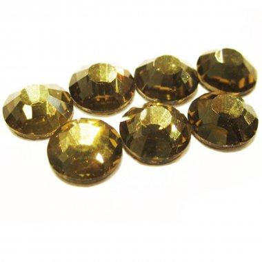 5mm nalep.kamínky broušené gold beryl