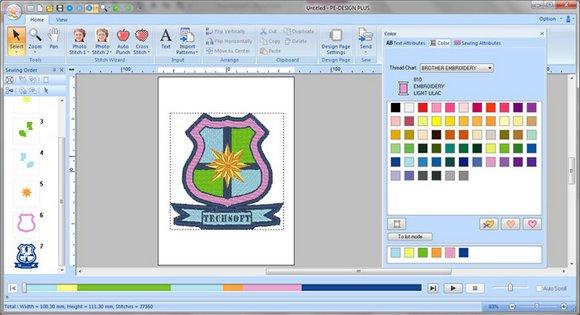 vyšívací software Brother PE Design 11-