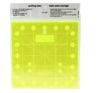 patchworkové pravítko 6x6 palců fluorescenční