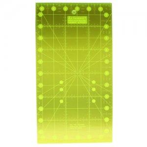 rastrové patchworkové pravítko 15x30cm fluorescenční