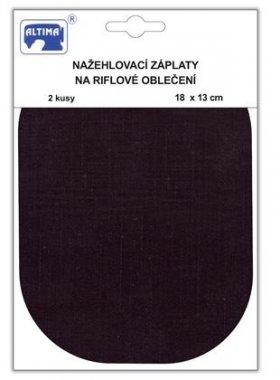 záplata nažehlovací riflová 18x13cm oválné 2ks černá