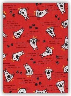 záplata nažehlovací kočky pejsci červení 43x20cm