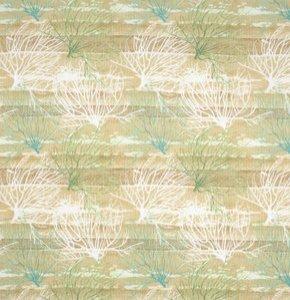látka beach treasures-coral-sky 100%bavlna 112cm šíře/150gm2