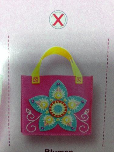 kreativní set z filcu, rozměr cca 18,5x16,5x8cm taška s květinou
