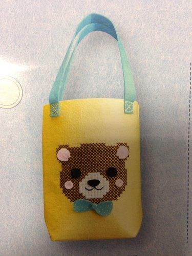 kreativní set z filcu, rozměr cca 27x29x11cm taška s medvídkem