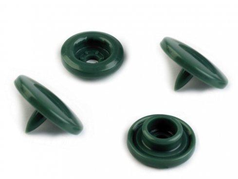 patentky/druky plastové narážecí vel.18(12mm) barva tmavě zelená bal. 10ks