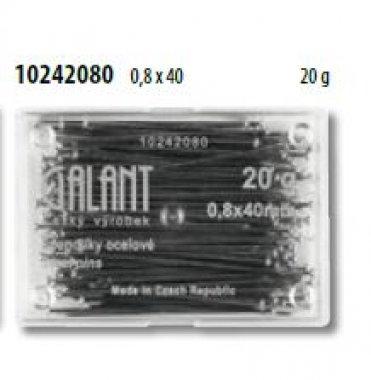 špendlíky ocelové Ni  0,8x40mm 20g