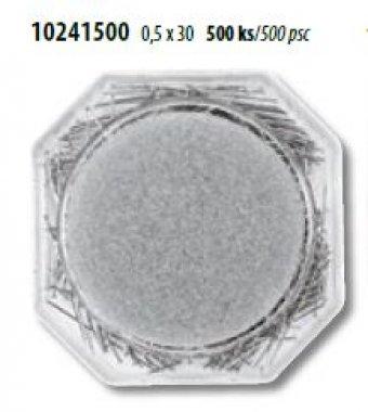 špendlíky ocel. Ni 0,55x30mm 500ks