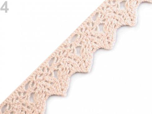 krajka paličkovaná 100%bavlna 25mm