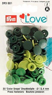 plastové druky PRYM LOVE MIX zelené