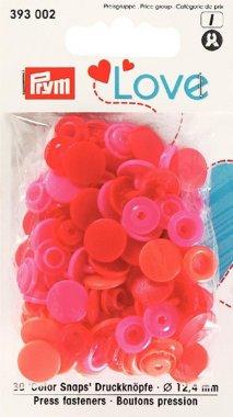 plastové druky PRYM LOVE MIX červené