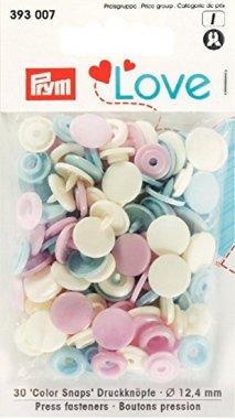 plastové patentky PRYM LOVE sv.modrá/růžová/žlutá