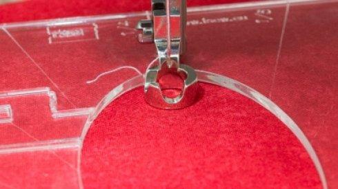 plastová quiltovací patka pro pravítka S
