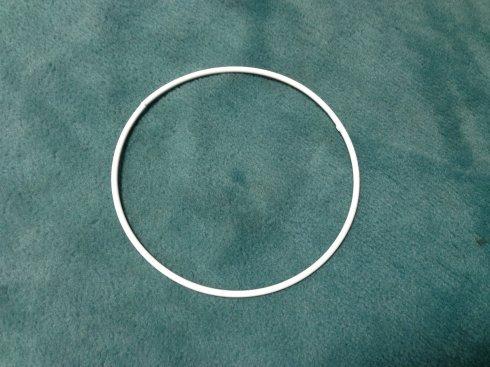 pro lapač snů kovový kruh 20cm bílý