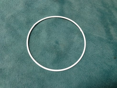 pro lapač snů kovový kruh 30cm bílý