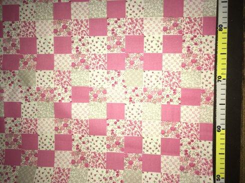 látka 140cm šíře/100%bavlna falešný patchwork