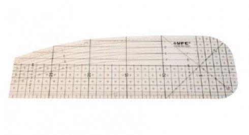 patchworkové pravítko zažehlovací 10x30cm