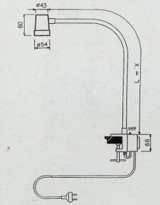 halogenová lampa bodová s trafem BS-T65 20W-