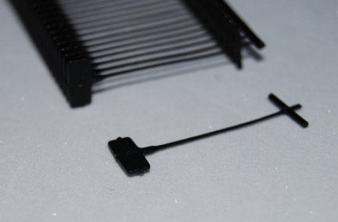 splinty do textilní pistole 25mm/STD 5000ks-ČERNÉ