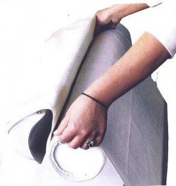 potah na průmyslový žehlící mandl šíře 140cm -materiál NOMEX nehořlavý