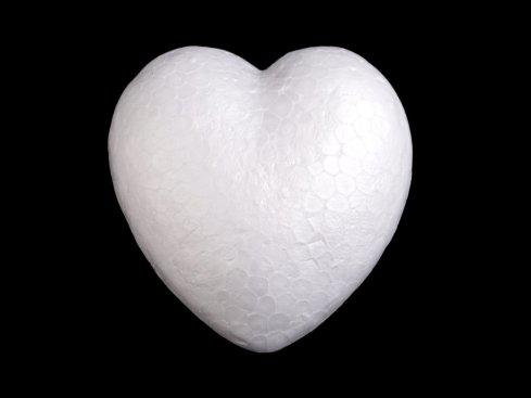 polystyrénové srdce 8cm