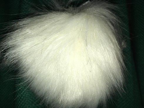 bambule 12cm 80%akryl,20%PES, 1ks bílá