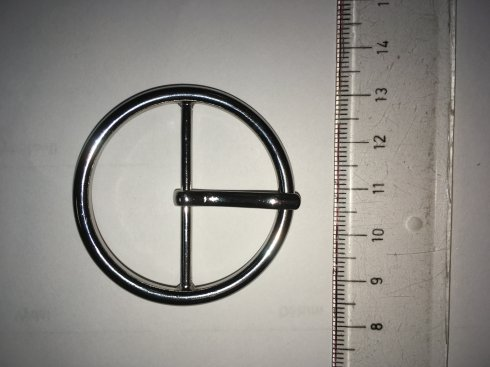 přezka opasková*š.38mm kulatá nikl
